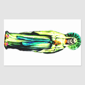Cult Of Santa Muerte Rectangular Sticker