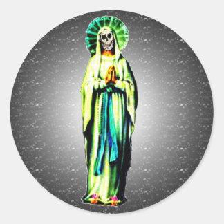 Cult Of Santa Muerte Round Sticker