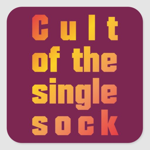 Cult OF the single sock Sticker