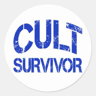 Cult Survivor Round Sticker