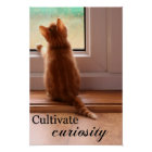 Cultivate Curiosity extra small poster