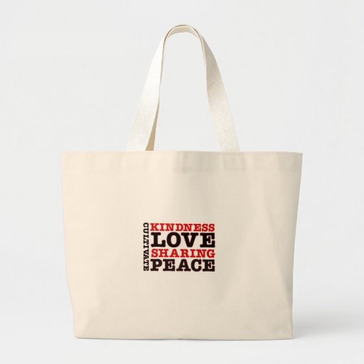 Cultivate Kindness Love Sharing Peace Bag