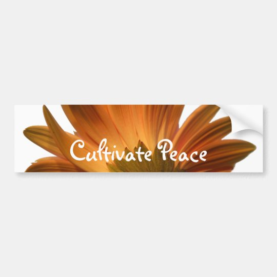 Cultivate Peace Bumper Sticker