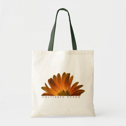 Cultivate Peace Tote Canvas Bag