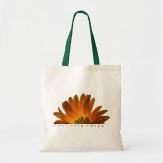 Cultivate Peace Tote Canvas Bag