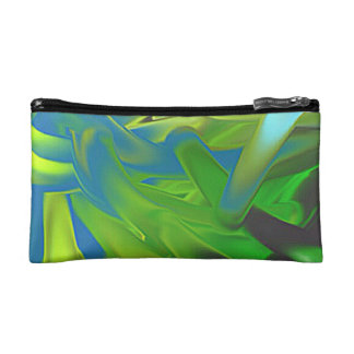 """Cultural bag """"Flashy"""" green blue abstractly Cosmetic Bags"""