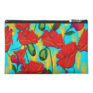 Cultural bag poppy meadow travel accessories bags
