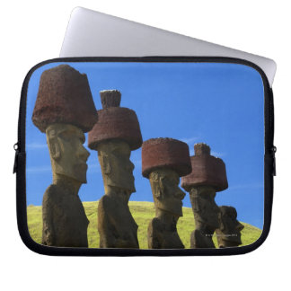 Cultural statues, Easter Island, Polynesia Laptop Sleeve