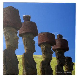 Cultural statues, Easter Island, Polynesia Tile