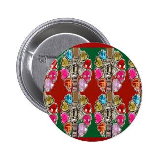 CULTURE Theme Wedding Jewel Colorful USA NewJersey 6 Cm Round Badge
