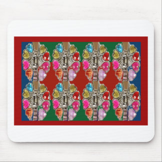 CULTURE Theme Wedding Jewel Colorful USA NewJersey Mouse Pad