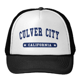 Culver City California College Style tee shirts Mesh Hats