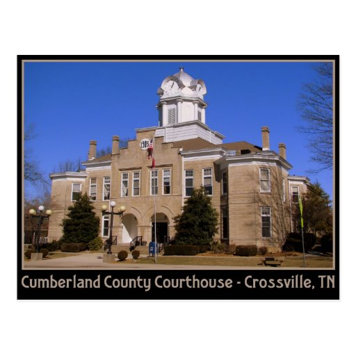 Cumberland County Courthouse - Crossville, TN Postcard