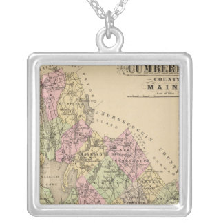 Cumberland County, Maine Silver Plated Necklace