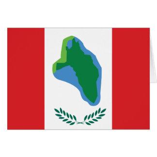 Cumberland Head, United States flag Greeting Cards