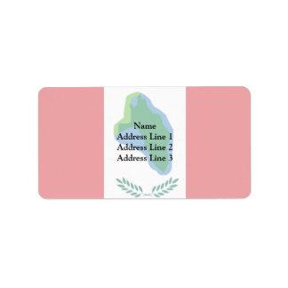 Cumberland Head, United States flag Address Label