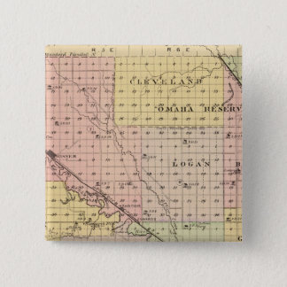 Cuming County, Nebraska 15 Cm Square Badge
