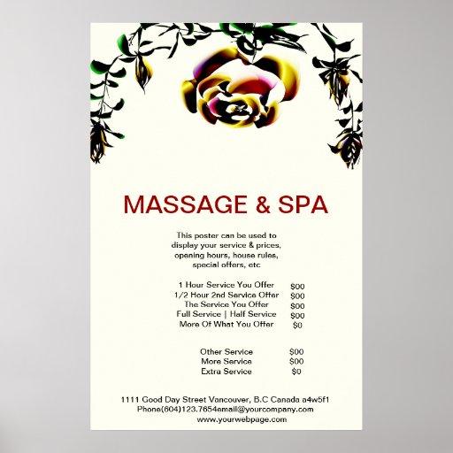 Cumingtonite Spa Massage Beauty Salon Poster