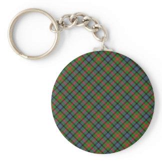 Cumming Clan Tartan Designed Print Basic Round Button Key Ring