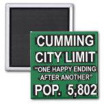 Cumming Georgia Funny City Limit Sign Magnets
