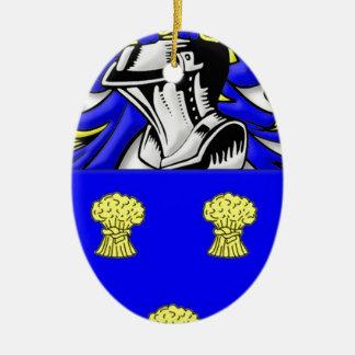 Cummins Coat of Arms Ceramic Oval Decoration