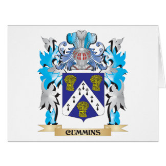 Cummins Coat of Arms - Family Crest Greeting Cards
