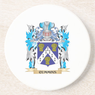 Cummins Coat of Arms - Family Crest Drink Coasters