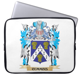Cummins Coat of Arms - Family Crest Laptop Computer Sleeves