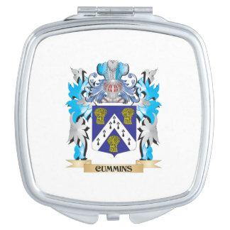 Cummins Coat of Arms - Family Crest Makeup Mirror