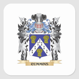 Cummins Coat of Arms - Family Crest Square Sticker