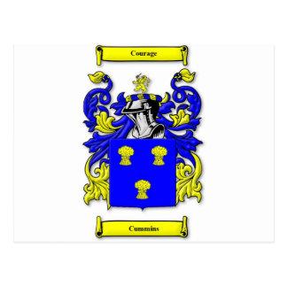 Cummins Coat of Arms Postcard