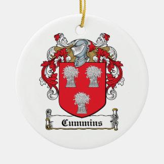 Cummins Family Crest Ornaments