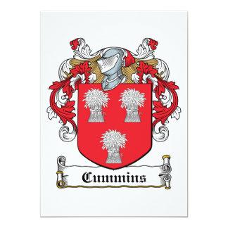 Cummins Family Crest Custom Invite