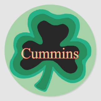 Cummins Family Round Sticker
