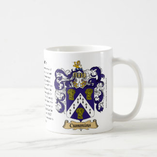 Cummins, the Origin, the Meaning and the Crest Basic White Mug