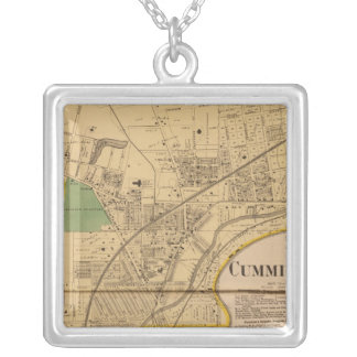 Cumminsville, Ohio Silver Plated Necklace
