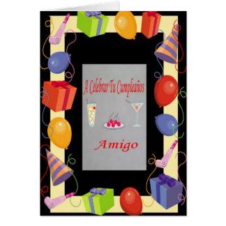 Cumpleaños Amigo Greeting Card
