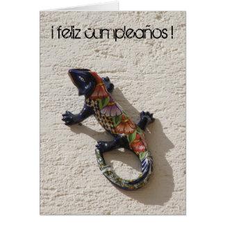 cumpleaños lizard greeting card