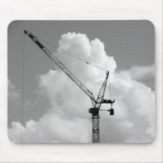 Cumulonimbus Crane - Black and White Mouse Pad