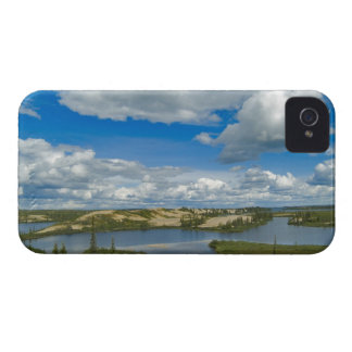 Cumulus clouds float above lakes, Northwest iPhone 4 Case-Mate Cases