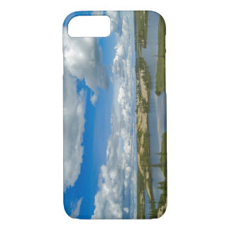 Cumulus clouds float above lakes, Northwest iPhone 7 Case