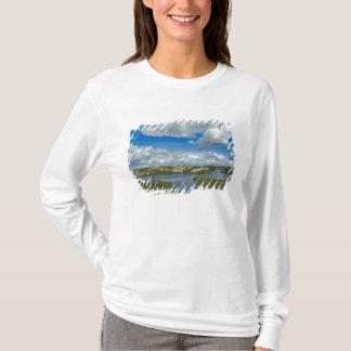 Cumulus clouds float above lakes, Northwest T-Shirt