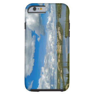 Cumulus clouds float above lakes, Northwest Tough iPhone 6 Case