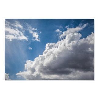Cumulus clouds forming photo