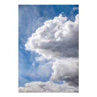 Cumulus clouds forming photograph