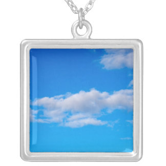 cumulus clouds over the western Antarctic Silver Plated Necklace