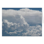 Cumulus clouds view from heaven greeting card