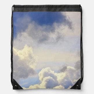 Cumulus storm. rucksacks
