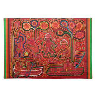 Cuna Indian Men in Cayucos Placemats
