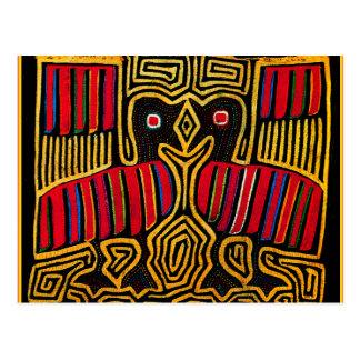 Cuna Indian Mola Duck Design Postcard